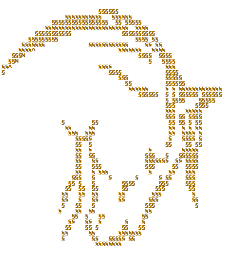 One Line Ascii Art Batman : Pferd esel ascii art gallery